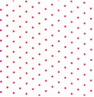 French Hat Box, Dots, 23-Pink